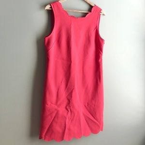 J.Crew Scalloped Dress dark Coral or Red color